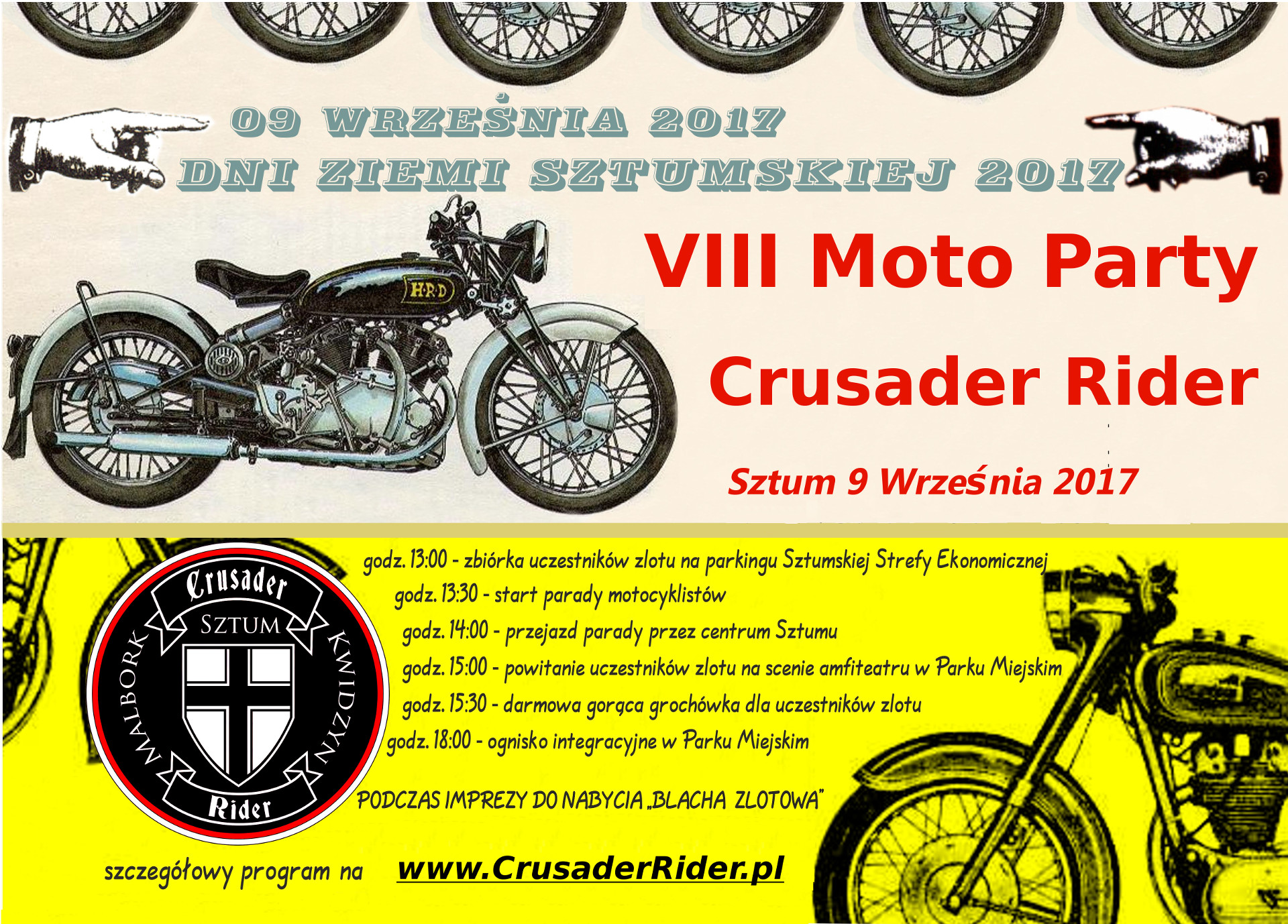 VIII Moto Party Crusader Rider - Sztum 09.09.2017